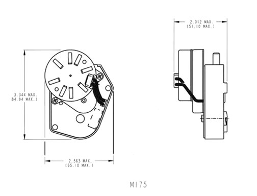 Electromechanical Timer Models 175-177 Diagram