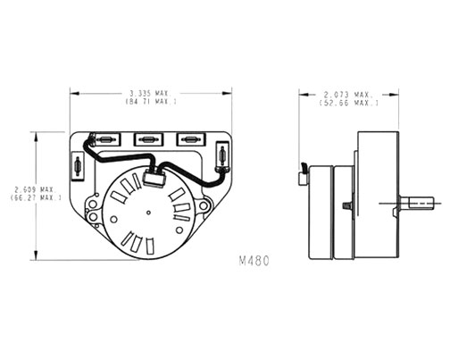 Electromechanical Timers Model 480 Diagram